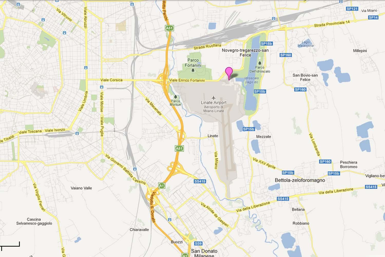 Flygplatser I Milano Karta Flygplatser I Milano Italien Karta