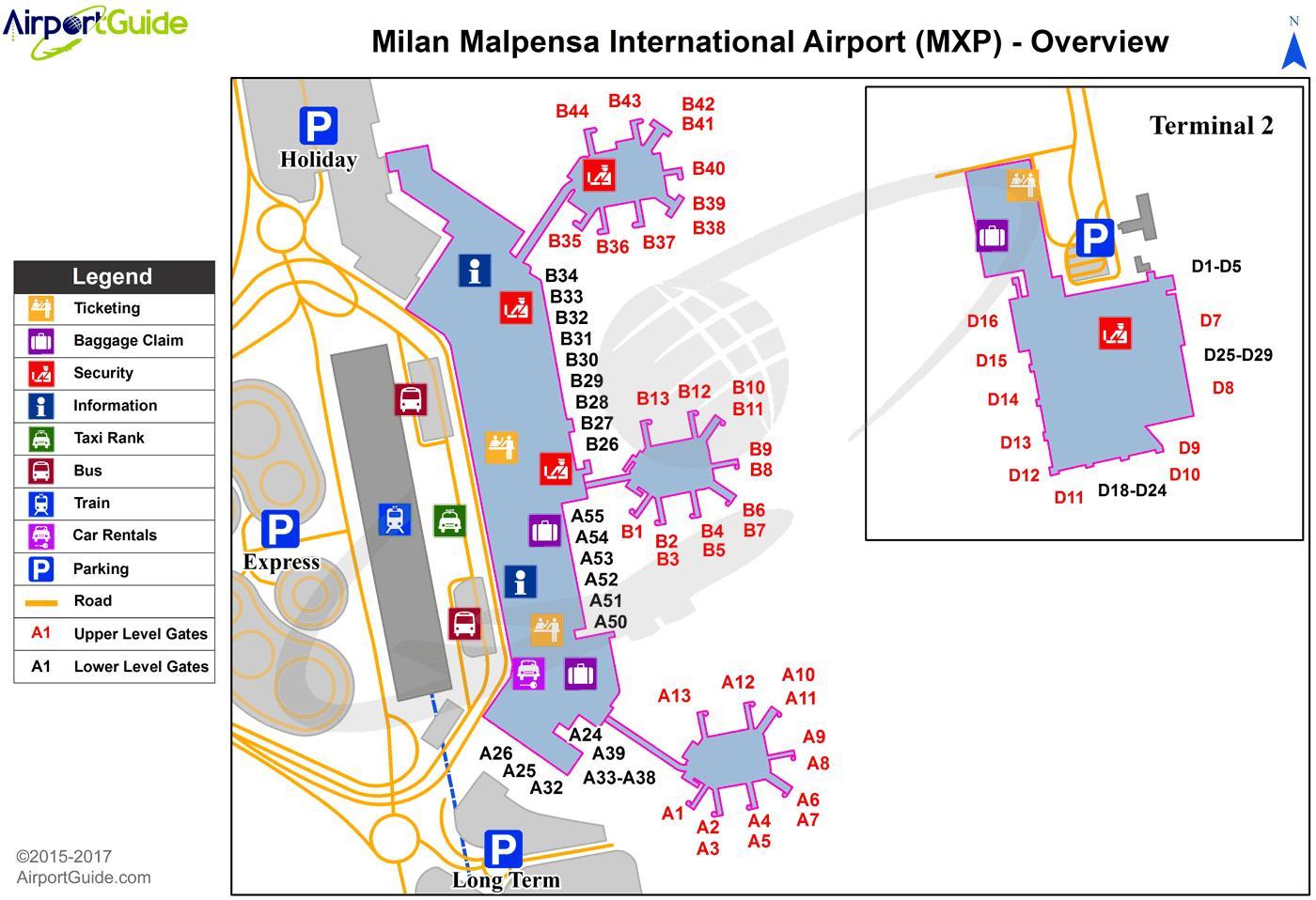 Milano Flygplats Karta Milano Flygplats Karta Lombardiet Italien