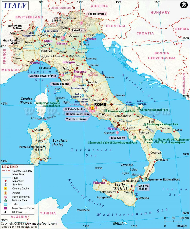 Karta Over Milano Italien Och Det Omgivande Omradet Karta Over