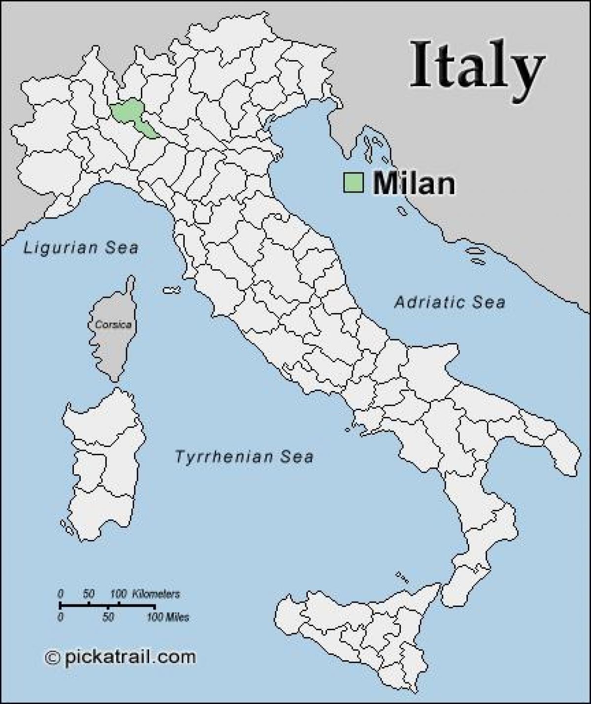 Milan Karta Europa Karta Over Milano Karta Europa Lombardiet