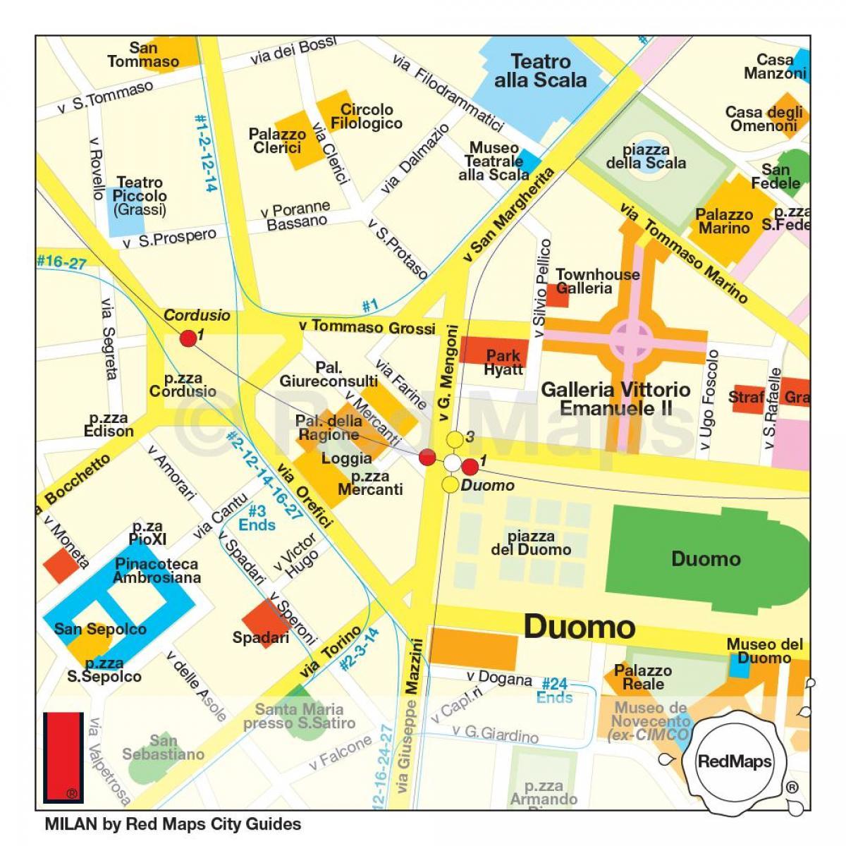 Milan Shopping Karta Milan Shopping District Karta Lombardiet