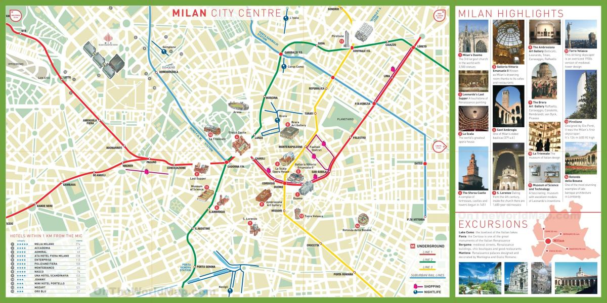 city sightseeing milano karta